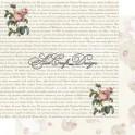 Carta Scrap Rose & Scrittura 200 gsm