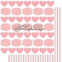 Carta Scrap Etichette rose 200 gsm