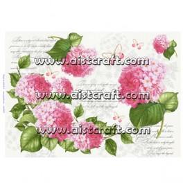 Carta di riso Hydrangea rosa