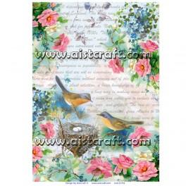 Carta di riso Uccelli & Primavera