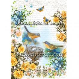 Carta di riso Uccelli